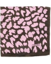 Tom Ford Animal-Print Pocket Square - Lyst
