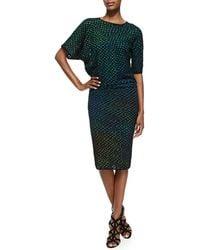 M Missoni Bubble Knit Midcalf Dress - Lyst