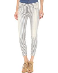 True Religion Serena Super Skinny Ankle Jeans Blue Stripe - Lyst