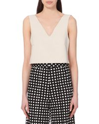 Self Portrait Cropped Shell Top - For Women - Lyst