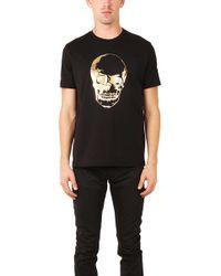 Markus Lupfer Skull Gold Foil T Shirt - Lyst