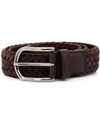 Tod's Woven Suede Belt - Lyst