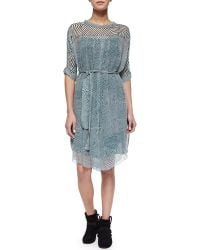 Etoile Isabel Marant Danbury Ripple-Striped Shirtdress - Lyst