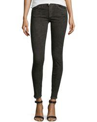 Current/Elliott Slim Crop Snake-print Jeans - Lyst