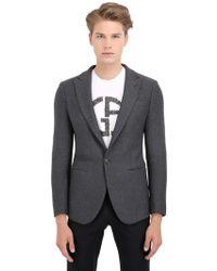 Giorgio Armani Heathered Wool Jacket - Lyst