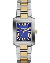 Michael Kors Mini Twotone Stainless Steel Emery Threehand Watch - Lyst