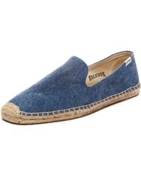 Soludos Mens Smoking Slipper Washed Canvas blue - Lyst