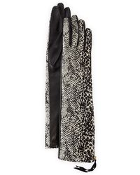 Lanvin Speckled & Leather Gloves - Lyst