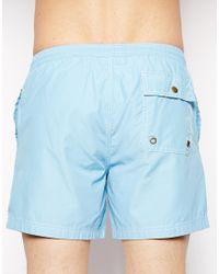 Jack Wills - Plain Swim Shorts Sky Blue - Lyst