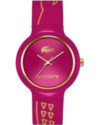 Lacoste Unisex Goa Red Silicone Strap Watch 40mm - Lyst