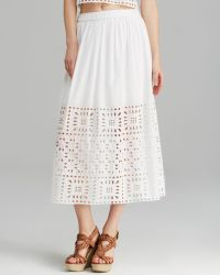Two By Vince Camuto - Eyelet Maxi Skirt - Lyst