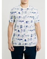 Topman Ltd Comic Strip Tshirt - Lyst