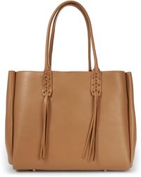 Lanvin - Small Taupe Leather Shopper - Lyst