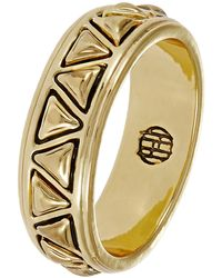 House Of Harlow Gold Textured Ring - Lyst