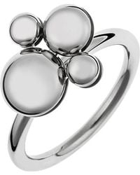 Calvin Klein - Stainless Steel With Circular Charm Ring - Lyst