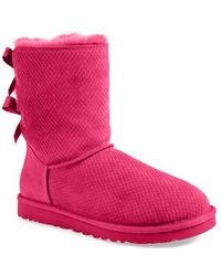 Ugg 'Bailey Bow - Exotic Scales' Boot pink - Lyst