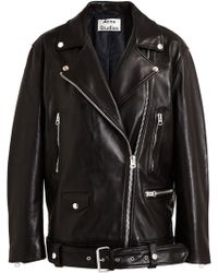 Acne Studios Leather Biker Jacket - Lyst