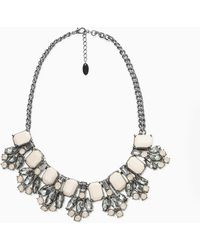 Violeta by Mango Faceted Crystal Necklace - Lyst