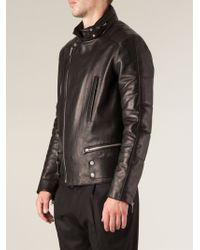 Balenciaga Hidden Hood Collar Biker Jacket - Lyst