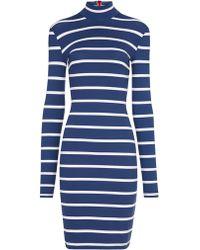 Preen Navy Stripe Jersey Ashes Dress - Lyst