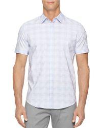 Calvin Klein Checkerboard Dobby Sportshirt - Lyst