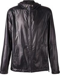 Loewe Black Hooded Jacket - Lyst
