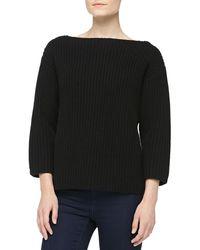 Michael Kors Boxy Cashmere Shaker-knit Sweater - Lyst