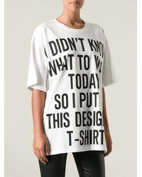 Moschino Oversize T-shirt - Lyst