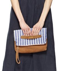 Soludos - Fold Over Clutch Kikoy Wrap Small Zip Pouch Large Pouch Big Beach Bag - Lyst