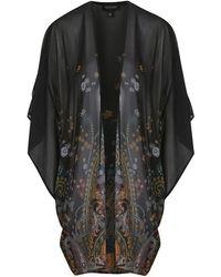 Topshop Paisley Print Kimono - Lyst