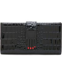 Opening Ceremony - Croc Embossed Misha Wallet - Midnight Navy - Lyst
