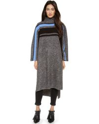 Tibi Long Striped Cape Pullover  - Lyst