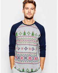 ASOS - Loungewear Set With Christmas Fair Isle Print - Lyst