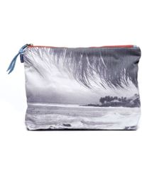 Soludos - Large Pouch Small Zip Pouch Big Beach Bag Fold Over Clutch Kikoy Wrap - Lyst