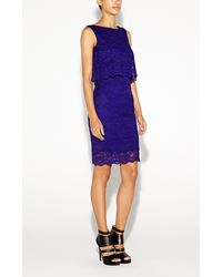 Nicole Miller Aiden Lace Dress - Lyst