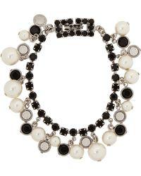 Tom Binns - Regal Pearl Noir Silver-Plated, Pearl And Crystal Bracelet - Lyst