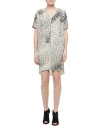 Halston Heritage Printed High-low Dress - Lyst