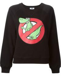 Moschino Cheap & Chic Dinosaur Print Sweatshirt - Lyst