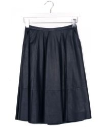 DROMe Longuette Blue Leather Skirt blue - Lyst