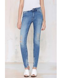Nasty Gal Res Denim Kitty Skinny Jean - Lyst