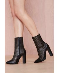 Nasty Gal Shoe Cult Holy Grail Leather Bootie - Lyst