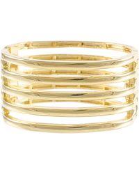 Kenneth Jay Lane 22K Gold Ladder Bangle Bracelet - Lyst