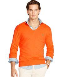 Polo Ralph Lauren | Pima Cotton V-neck Sweater | Lyst