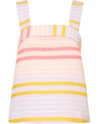 Suno Neon Stripe Folded Top - Lyst
