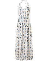 Rachel Comey White Grid Print Palma Dress - Lyst