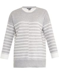 Vince Double-faced Striped Sweater - Lyst