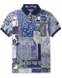 Etro Paisley-Print Cotton-Pique Polo Shirt - Lyst