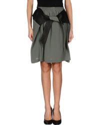 Damir Doma Knee Length Skirt green - Lyst