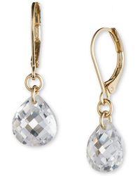 Lonna & Lilly - Cubic Zirconia Leverback Drop Earrings - Lyst