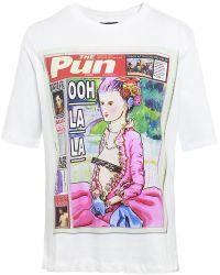 House Of Holland Ohh La La Embellished T-shirt - Lyst